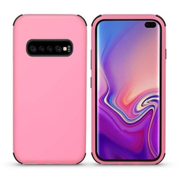 [CS-S10P-BHCL-LPNBK] Bumper Hybrid Combo Layer Protective Case  for Galaxy S10 Plus - Light Pink & Black