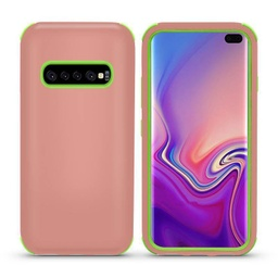 [CS-S10P-BHCL-ROGOGR] Bumper Hybrid Combo Layer Protective Case  for Galaxy S10 Plus - Rose Gold & Green