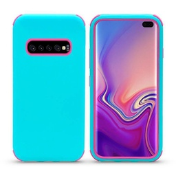[CS-S10P-BHCL-TEHPN] Bumper Hybrid Combo Layer Protective Case  for Galaxy S10 Plus - Teal & Hot Pink