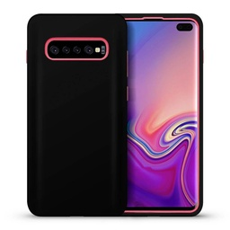 [CS-S10P-HCL-BKPN] Hybrid Combo Layer Protective Case  for Galaxy S10 Plus - Black & Pink
