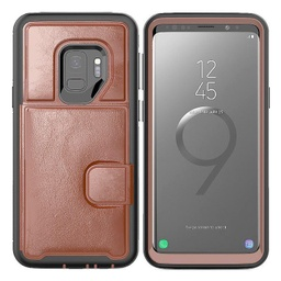 [CS-S9P-DLC-BW] Dual Leather Card Case  for Galaxy S9 Plus - Brown