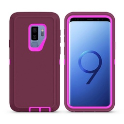 [CS-S9P-OBD-BUPN] DualPro Protector Case  for Galaxy S9 Plus - Burgundy & Pink