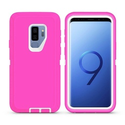 [CS-S9P-OBD-PNWH] DualPro Protector Case  for Galaxy S9 Plus - Pink & White