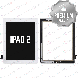 [DGT-IP2-w/H-WH] Digitizer for iPad 2 White with Home Button