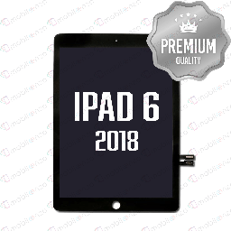 [DGT-IP6-w/oH-BK] Digitizer for iPad 6 (2018) Without Home Button -  Black