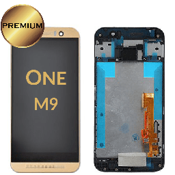 [LCD-HTCM9-WF-GO] LCD Assembly for  HTC One M9 With Frame - Gold
