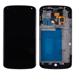[LCD-NX4-WF-BK] LCD Assembly for Nexus 4 With Frame - Black