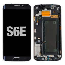 [LCD-S6EWF-BK] LCD for Samsung Galaxy S6 Edge with Frame Black