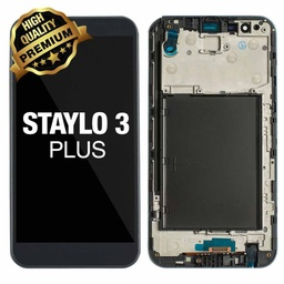 [LCD-ST3P-WF-BK] LCD Assembly for LG Stylo 3 Plus (MP450/TP450) With Frame - Black