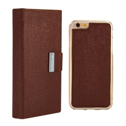 [CS-I5C-REW-BW] Real Wallet Case  for iPhone 5C - Brown