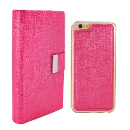 [CS-I5C-REW-HPN] Real Wallet Case  for iPhone 5C - Hot Pink