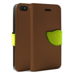 [CS-I5C-WWA-BW] Wing Wallet Case for iPhone 5C - Brown