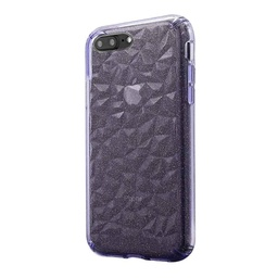 [CS-I7-3CC-GPU] 3D Crystal Case  for iPhone 7/8 - Glitter Purple