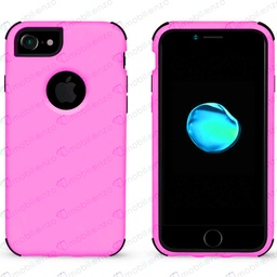 [CS-I7-BHCL-PNBK] Bumper Hybrid Combo Case for iPhone 7/8 - Pink & Black