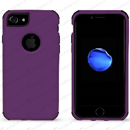 [CS-I7-BHCL-PUBK] Bumper Hybrid Combo Case for iPhone 7/8 - Purple & Black