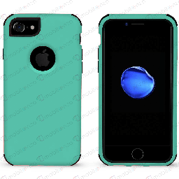 [CS-I7-BHCL-TEBK] Bumper Hybrid Combo Case for iPhone 7/8 - Teal & Black