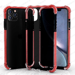 [CS-I12PM-HEC-BKRD] Hard Elactic Clear Case for iPhone 12 Pro Max (6.7) - Black & Red Edge