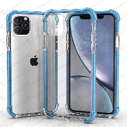 [CS-I12PM-HEC-BLE] Hard Elactic Clear Case for iPhone 12 Pro Max (6.7) - Blue Edge