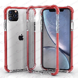 [CS-I12PM-HEC-RDE] Hard Elactic Clear Case for iPhone 12 Pro Max (6.7) - Red Edge