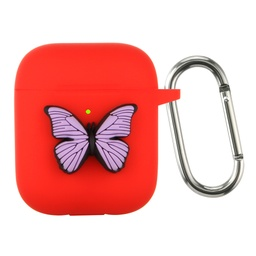 [CS-AP-BT-RD] Butterfly Case for AirPods 1 / 2 - Red