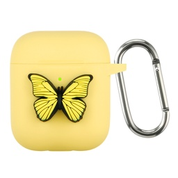 [CS-AP-BT-YL] Butterfly Case for AirPods 1 / 2 - Yellow