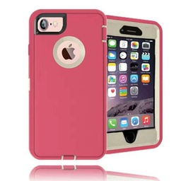 [CS-I5-OBD-PNWH] DualPro Protector Case  for iPhone 5 - Pink & White