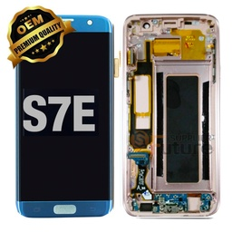 [LCD-S7E-WF-BL] LCD for Samsung Galaxy S7 Edge With Frame Blue