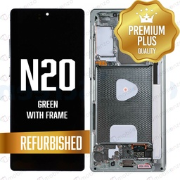 [LCD-N20-WF-GR] LCD for Samsung Note 20 with Frame Green